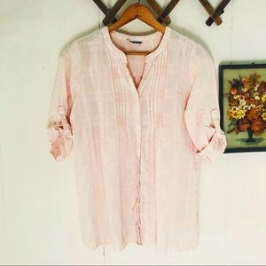 Pleione • Baby Pink Plaid Blouse